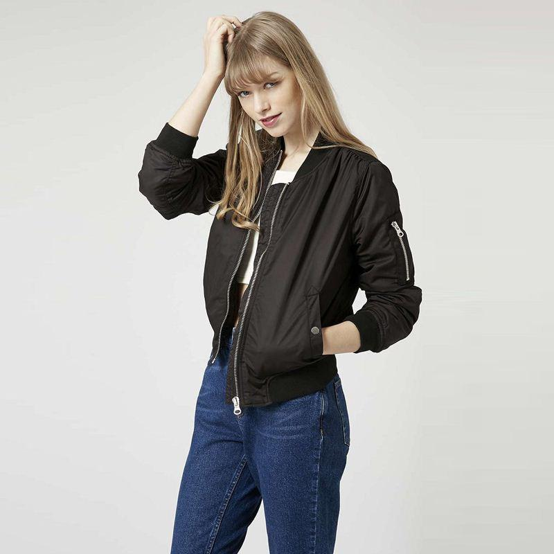 Fashion Women Short Bomber Jacket Outfits Thin Quilting Quilted ...
