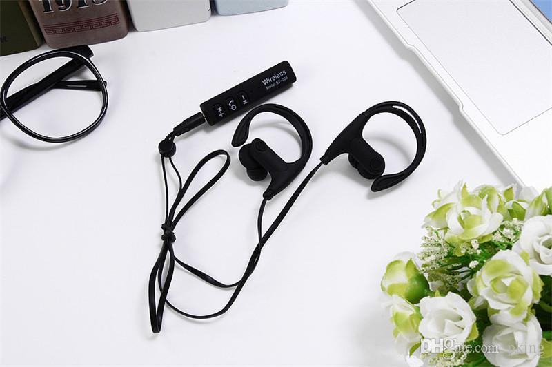 Headset Wireless Earphone Headphone Bluetooth Earpieces Sport Running Stereo Music Earbuds with Mic ST-008 Free DHL