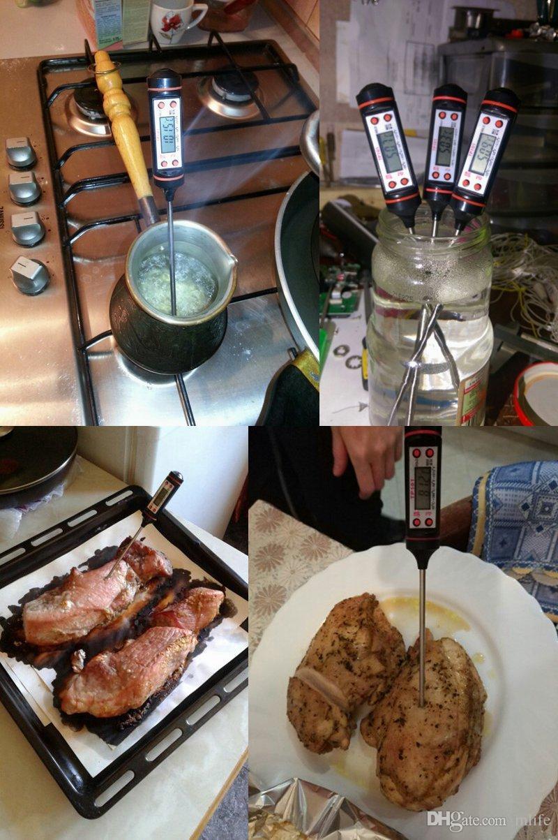 Instrumentos de Termômetro Eletrônico Digital hidrômetro Carne Food Probe Kitchen Cooking estação temperatura sensor de temperatura