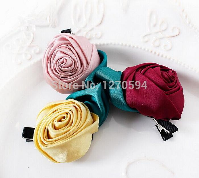 Best silk like fabric hair clips red pink yellow rose hairpins high best silk like fabric hair clips red pink yellow rose hairpins high quality flower side hair grips classic cute kid flower barrettes under 4412 dhgate mightylinksfo