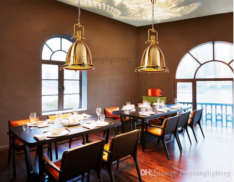 Lámpara RH BENSON PENDANT lámpara de iluminación de estilo vintage modelo loft que ilumina su cocina o lugar de trabajo color bronce y cromo
