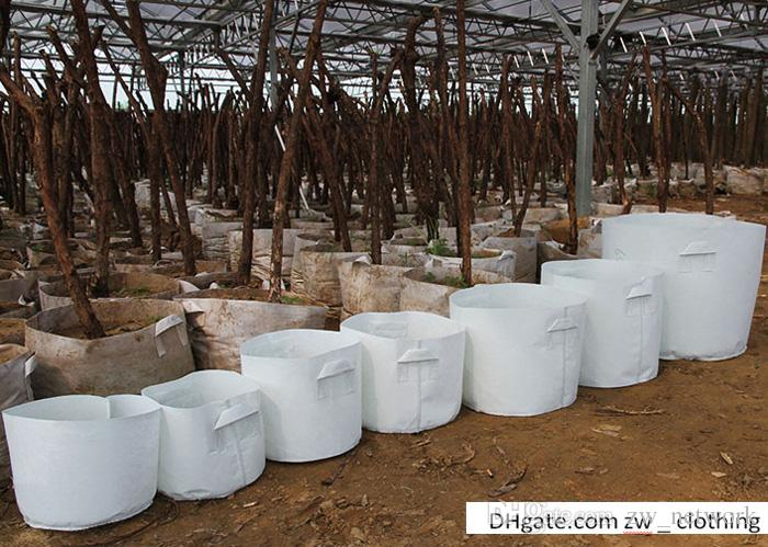 Borse da giardino all'ingrosso i vasi di fiori vasi tessuto non tessuto breve prastical riutilizzabile crescere vasi piantare borsa con manici