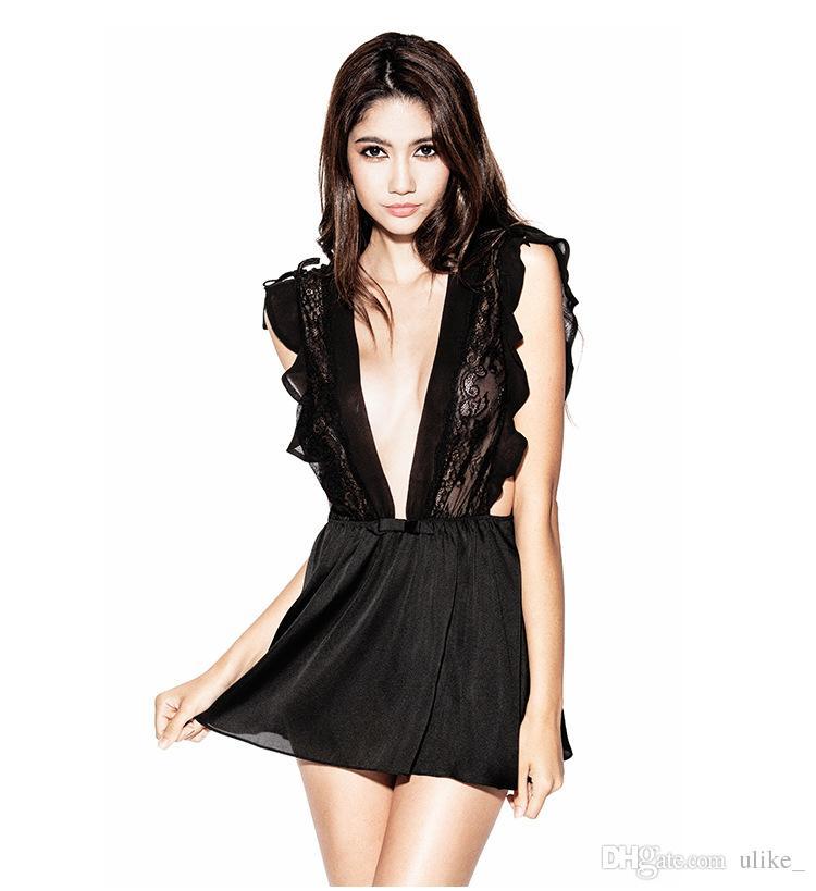22477cc0 Compre Lencería Sexy Hot Erotic Sex Shop Lencería Pechos Grandes Bra Lace  Black Strips Fishnet Mujer Ropa Interior Body Conjunto De Lencería Sexy  Oferta A ...