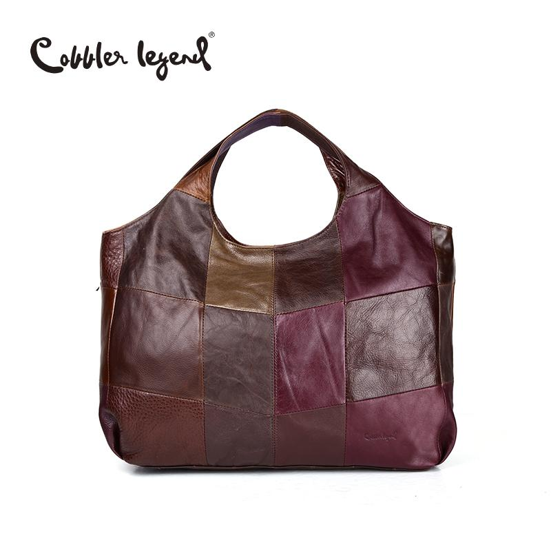 b57ff07cddcd99 Wholesale- Cobbler Legend 2016 New High Quality Women's Handbags Multi  Colors Genuine Cow Leather Tote Lady Casual Big Shoulder Bags 207251  Handbags Db ...