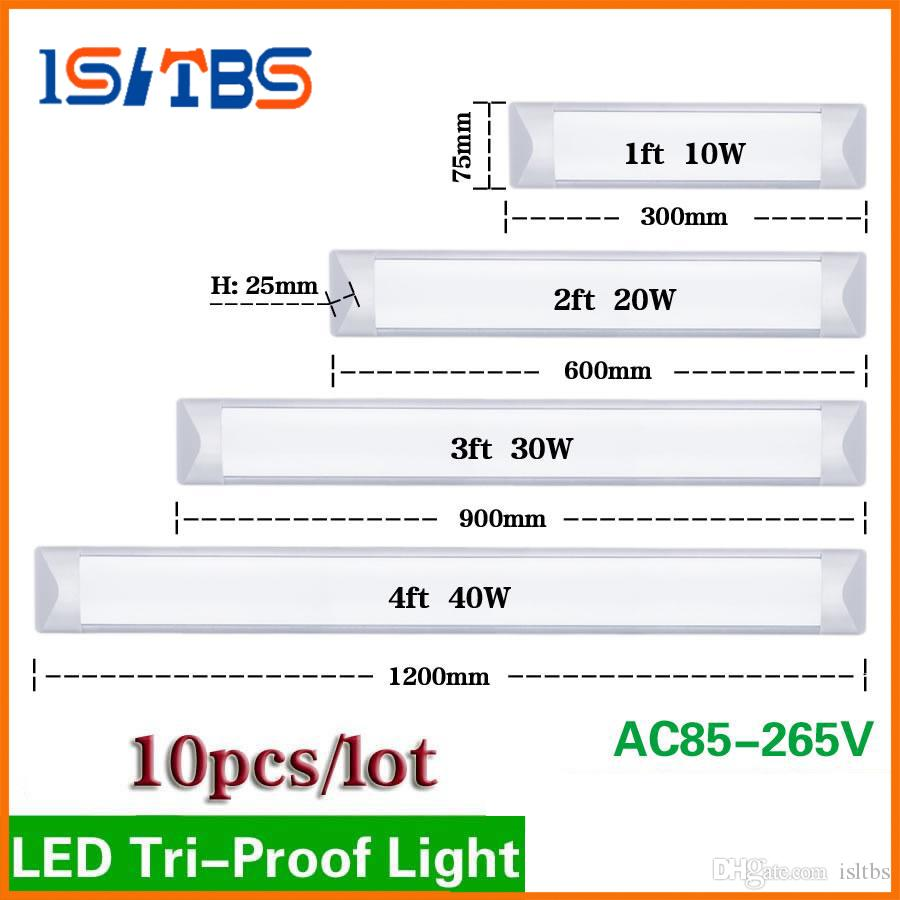 Surface Mounted Led Batten Double Row Tubes Lights 2ft 4ft T8