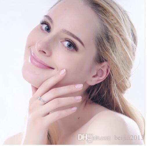 Bague De Mariage Design Classique Réel Platine Plaqué 6 Broches 0.5ct Simulé Diamant Promesse Anneaux Pour Femmes CRI0049-B