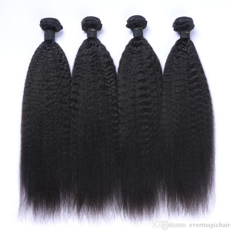 8A Peruvian Virgin Hair 100% Human Hair Afro Kinky Straight Curl Hair Weave Weft Bundles Extension Remy Quality