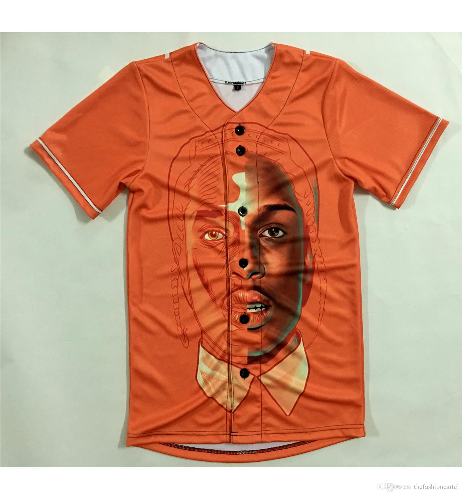 Real USA Size Custom Made A$AP Rocky Fashion 3D Sublimaiton Print
