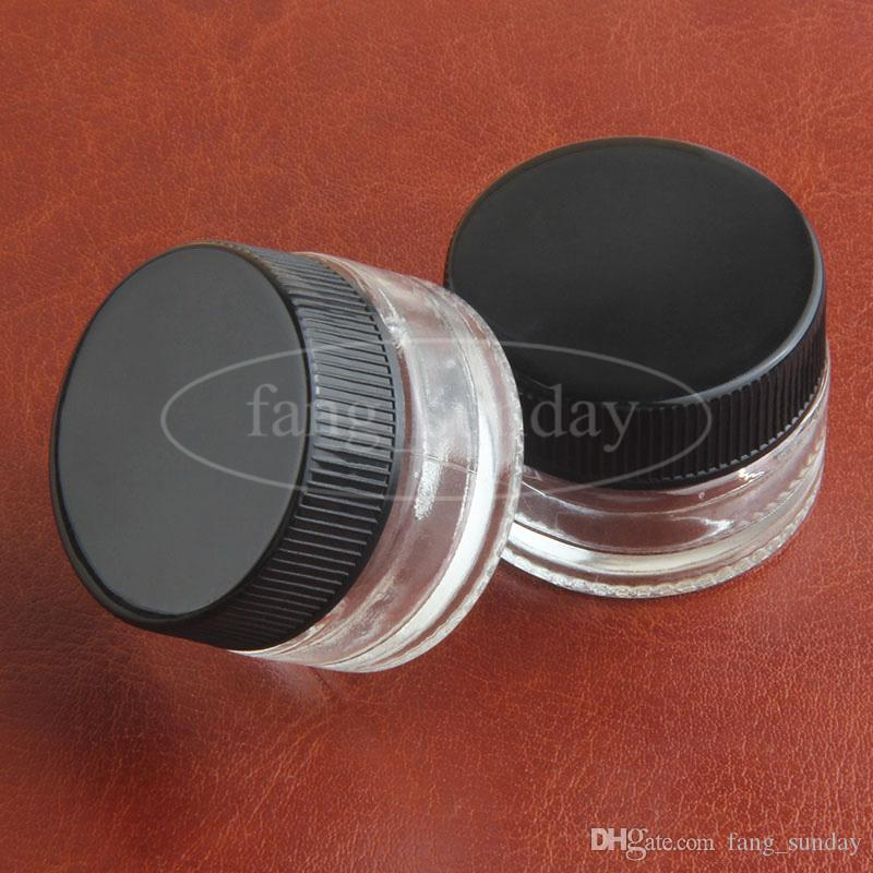 Food Grade Non-Stick Glass Container Wax Dab Oil Jar 5ml Dabber Dry Herb Concentrate Containers E cigs Cigarette for Cosmetics