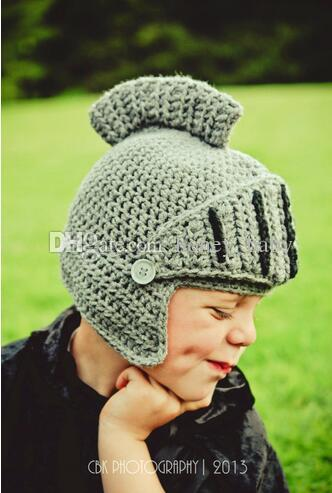47d65dab2cb Novelty Family Hat Roman Knight Helmet Caps Knitted Warm Winter Mask ...