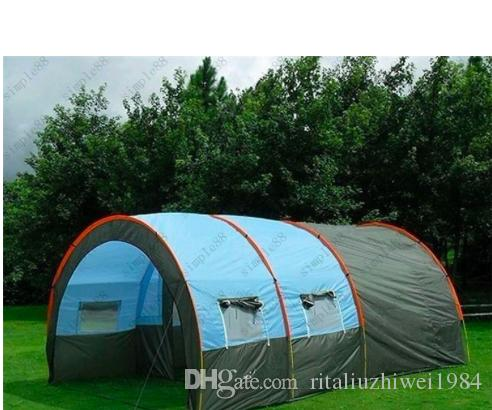 2017 Best 5 6 8 10 Persons Family C&ing Hiking Party Large Tents 1 Hall 2 Room Waterproof Tunnel Tent Event Tents Beach Tent Best Tents For C&ing 2 Man ... & 2017 Best 5 6 8 10 Persons Family Camping Hiking Party Large Tents ...