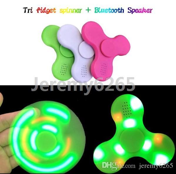 Led Fid Spinner With Bluetooth Speaker Handspinner Fingertips Led