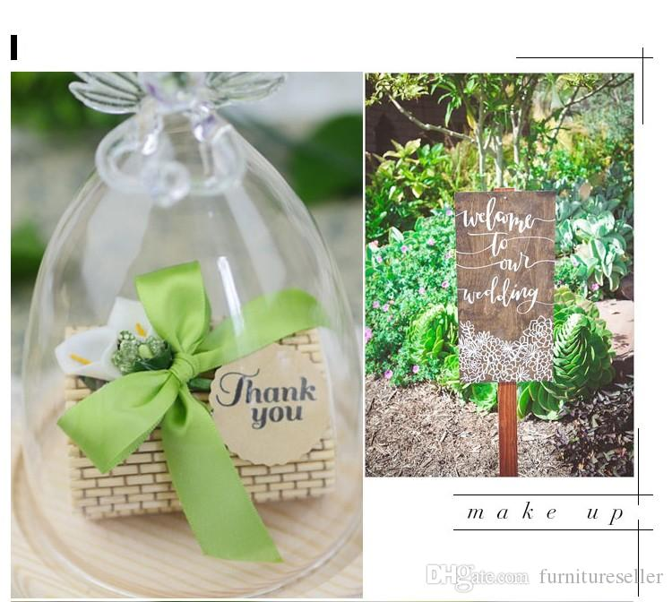 European Style Bomboniere Bamboo Wedding Favors Boxes Gifts Candy