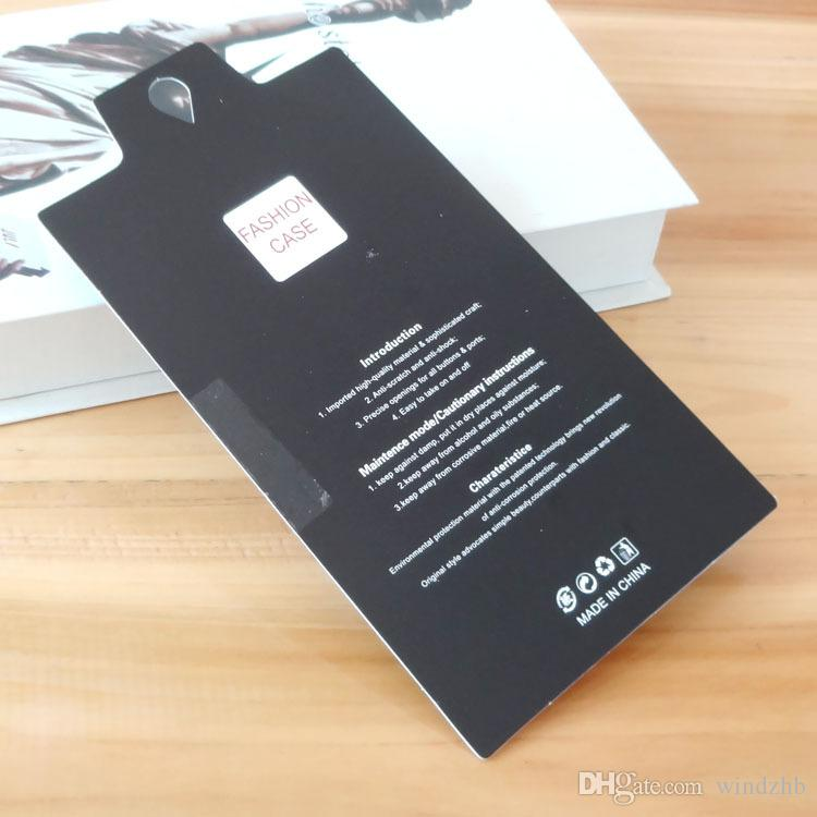 Fashion Universal Empty Retail Package Paper Box Packing PVC Window for iPhone 6 6S 7 Plus 5S Samsung S6 Edge S5 S4 Note 5 4 Cell Phone Case
