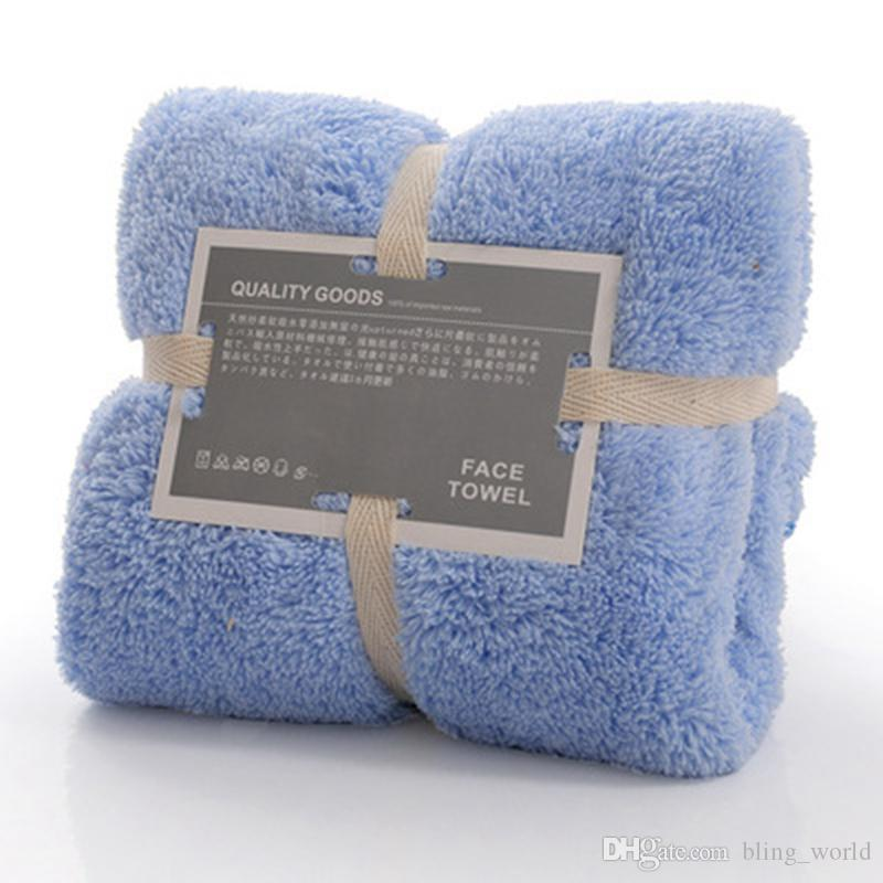 Bath Towel Supersoft Coral Fleece Towel Bathroom Quick-Dry Towels 34*75cm Best Gifts Towels Home Supplies High Quality YFA85