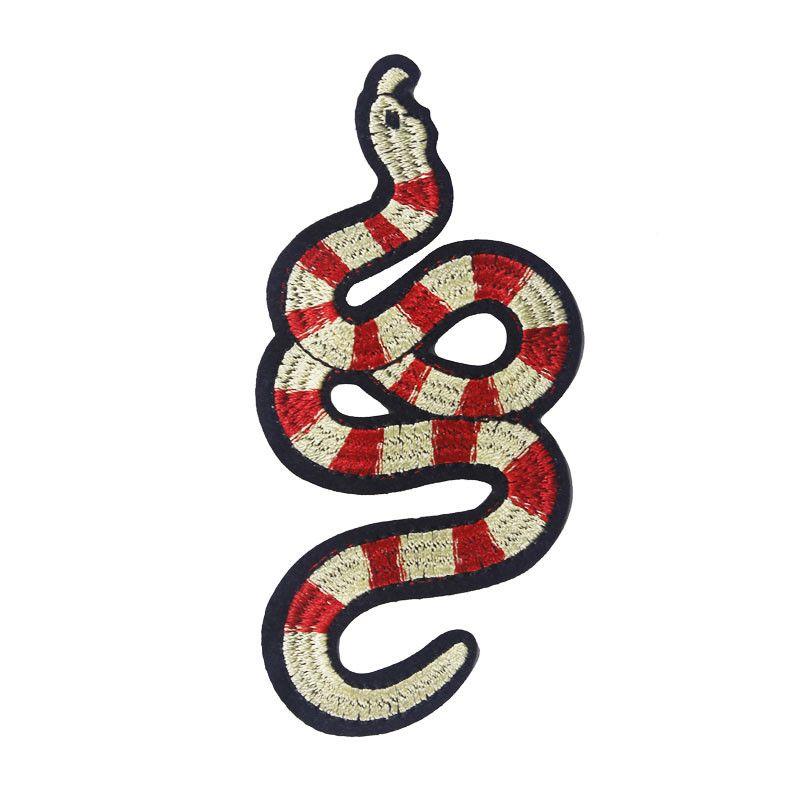 Compre 5 Pieza De Serpiente Patrón De Hierro En Parches De Encaje ...