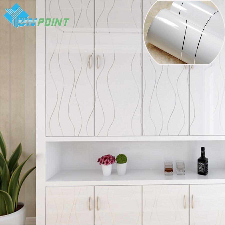 Wholesale 60x200cm Modern White Wavy Lines Diy Decorative s