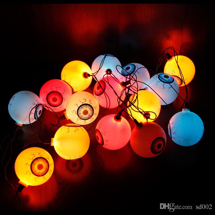 Pumpkin String Lamp Colourful Originality Halloween Decor Props For Mini Eyeball LED Night Light Many Styles 11 5xy C R