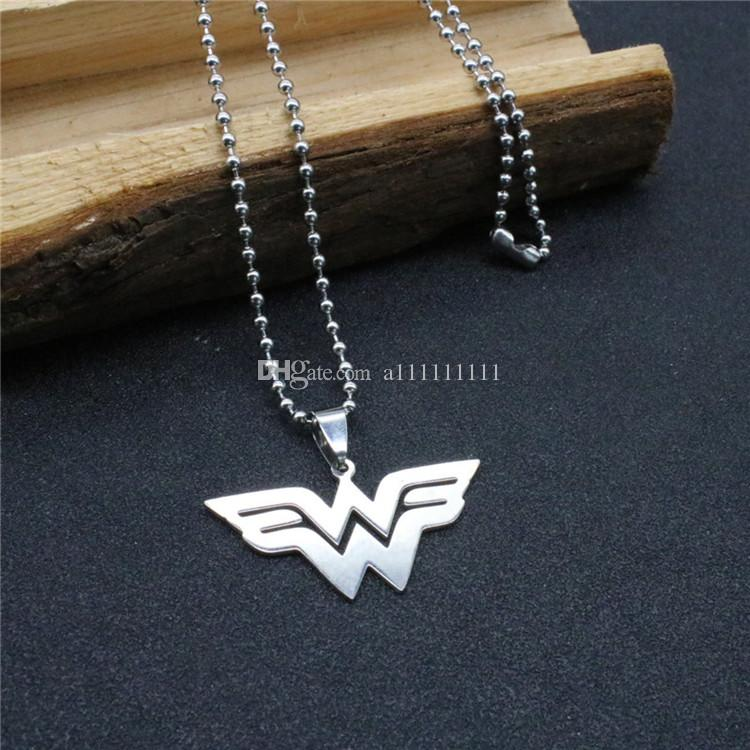 superhero wonder woman necklace w logo alloy pendant fashion beauty necklace movie jewelry gift wonder woman necklace movie jewelry w necklace online with