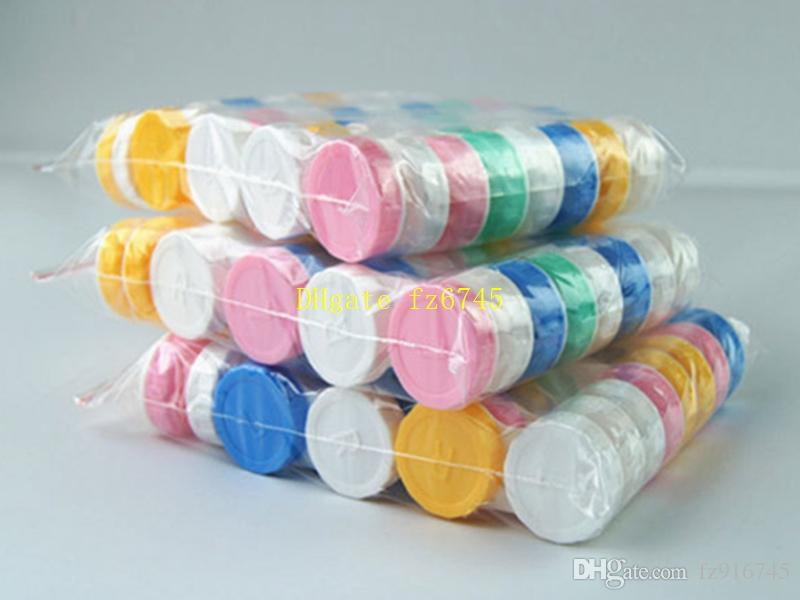 / Travel Plastic Storage Containment Content Lens box Soaking Cases Dual Box L+R Lached Lens