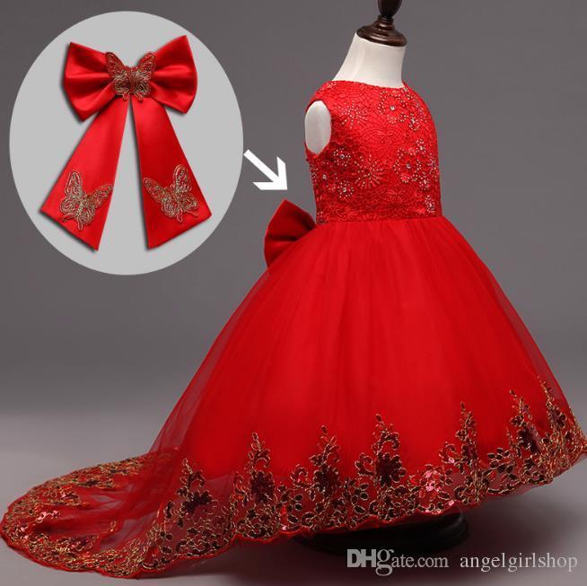 Vestido De Fiesta Lentejuelas Rojo Niñas 9 Años Ropa De Niña