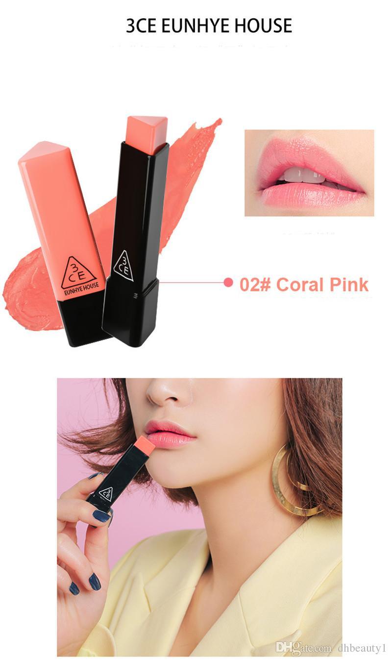 High Quality ! 3CE Eunhye House Matte LipStick korean lipstick Triangle Lip Cream Moisturizing Long-Lasting korean Makeup Cosmetic 12 col