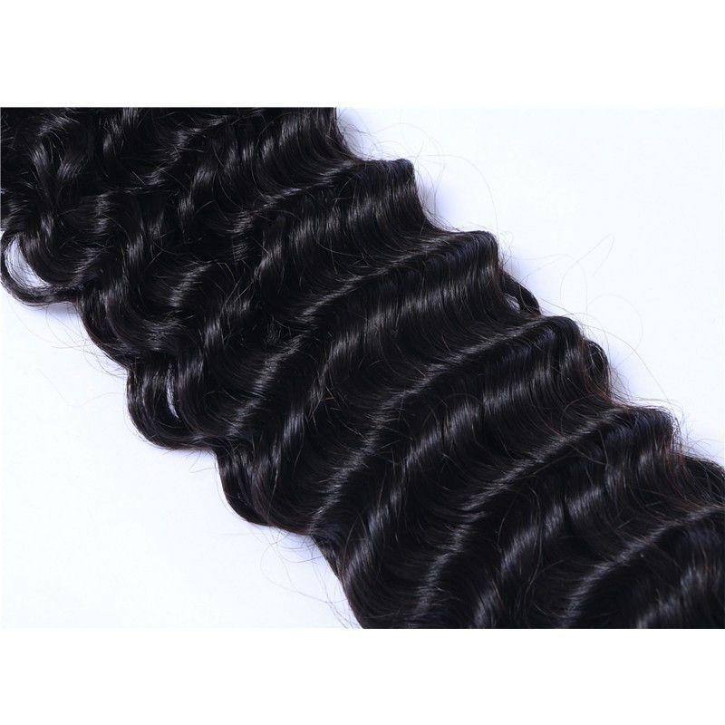 Braiding Hair Bulk Deep Wave Bulk Hair for Micro Braids on Full Head Same Length 3 Bundles free DHL