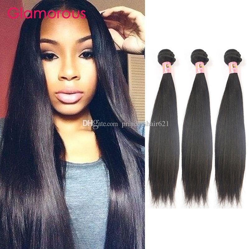 Glamorous Straight Hair 3 Bundles 100 Virgin Human Hair Weaves Most