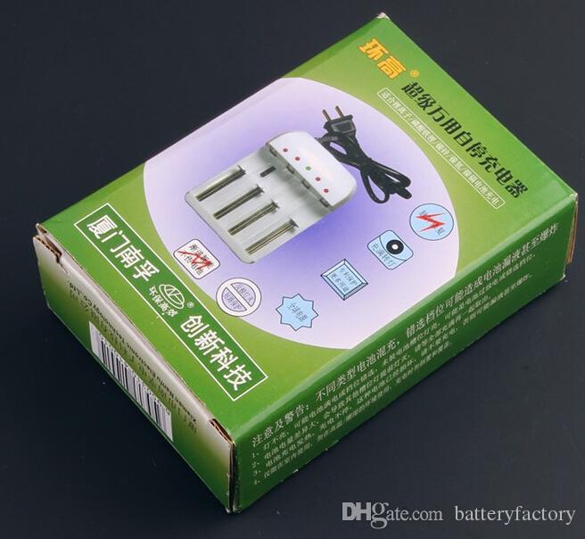 Gratis DHL, högkvalitativ helt ny nanfu batteriladdare mod laddare för 18650 18500 18350 17670 14500,10440 batteri