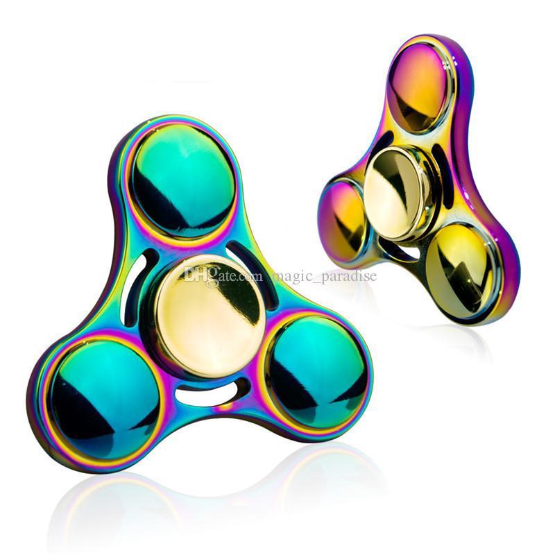 Ufo Rainbow Fid Spinner Edc Aluminum Finger Hand Spinners Metal