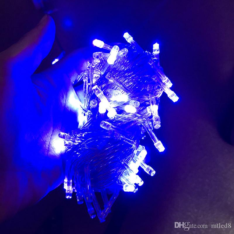 DHL schnelles Schiff 10m / 20M / 30M / 50M / 60m 100-600 LED-Schnur-Lichterkette-Weihnachtsdekor beleuchtet rote / blaue / weiße / farbenfrohe Hochzeitslichter Funkelnlicht