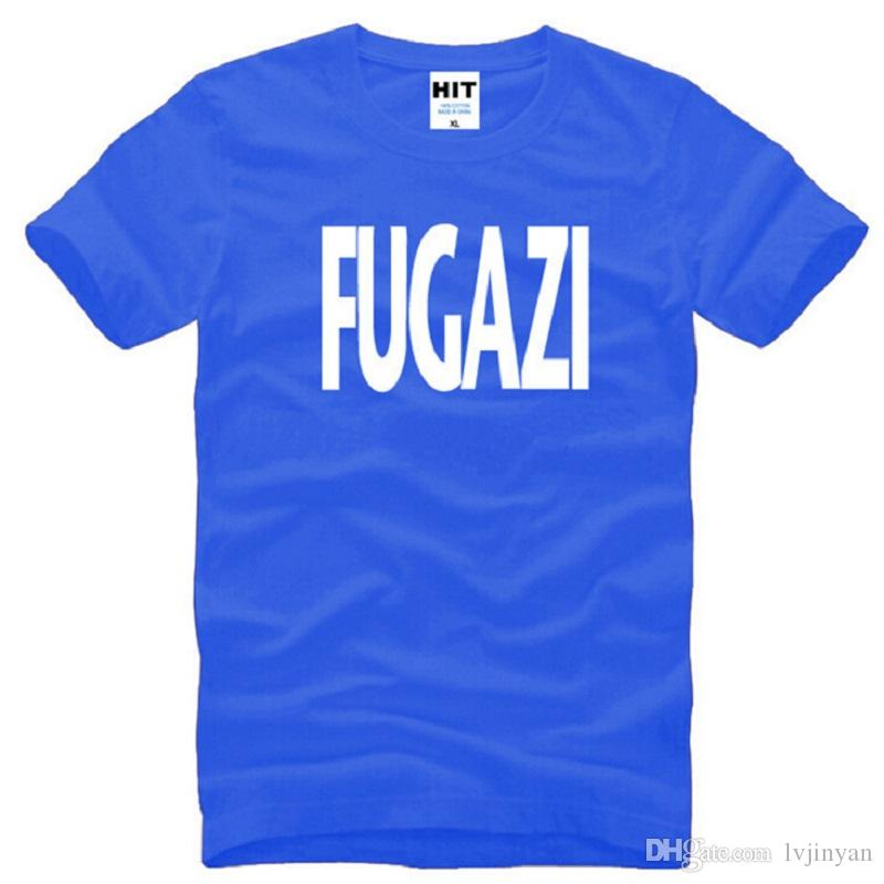 New Design Fugazi T Shirts Men Cotton Short Sleeve HEAVY METAL PUNK POP Men's T-Shirt Summer Style Male Music Rock Band Top Tees