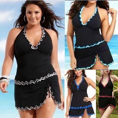 2018 women plus size swimwear tankini sets two piece lady swimsuit