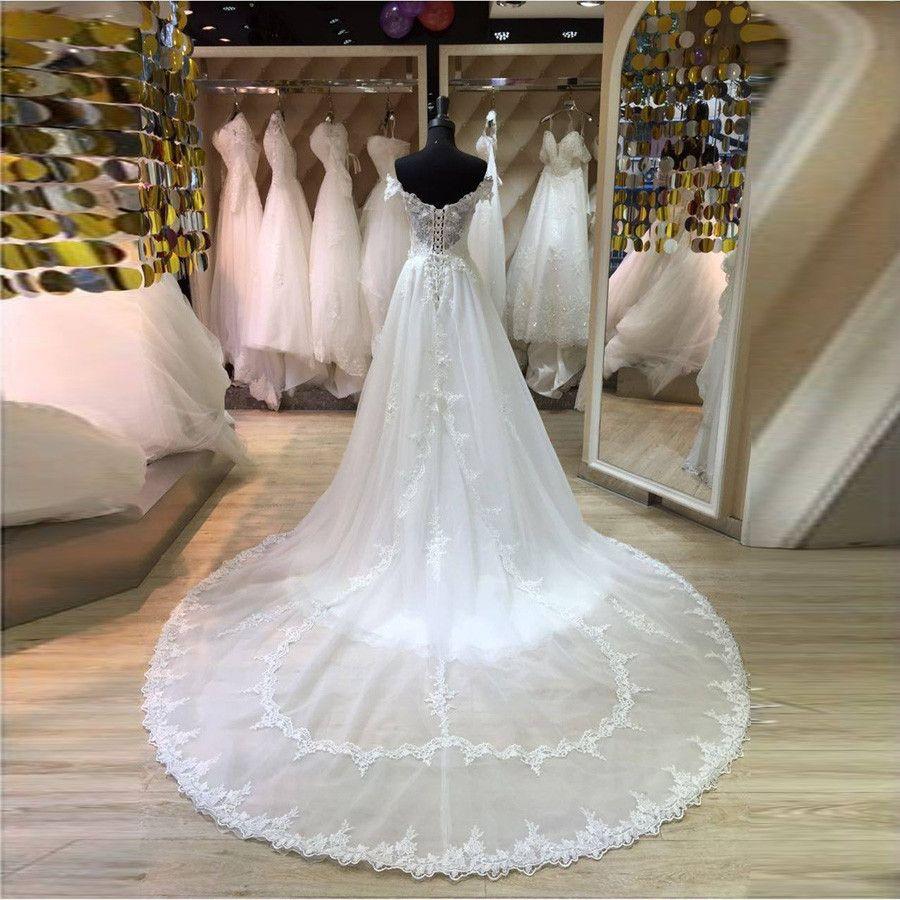 Bella sexy dal vestito da sposa della sirena della spalla 2019 Vestido de Novia Casamento pizzo abiti da sposa in pizzo autonomo del pizzo del pizzo del pizzo