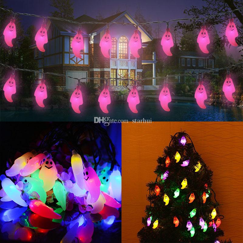 led ghost lights halloween christmas decorations 20 lights ghost solar home outdoor garden patio party holiday supplies in stock wx9 34 halloween