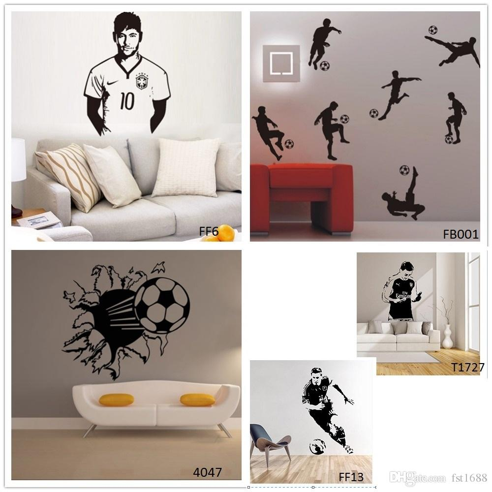 Soccer Players Football Wall Stickers Home Decor Soccer Wall Decal For Kids  Room Sport Football Sticker Boy Bedroom Mural Home Decor