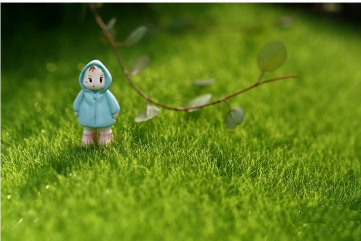 Yeni Tasarım Yapay Çim Çim 15 * 15 cm Peri Bahçe Minyatür Gnome Moss Teraryum Dekor Reçine El Sanatları Bonsai Ev dekor için DIY Zakka