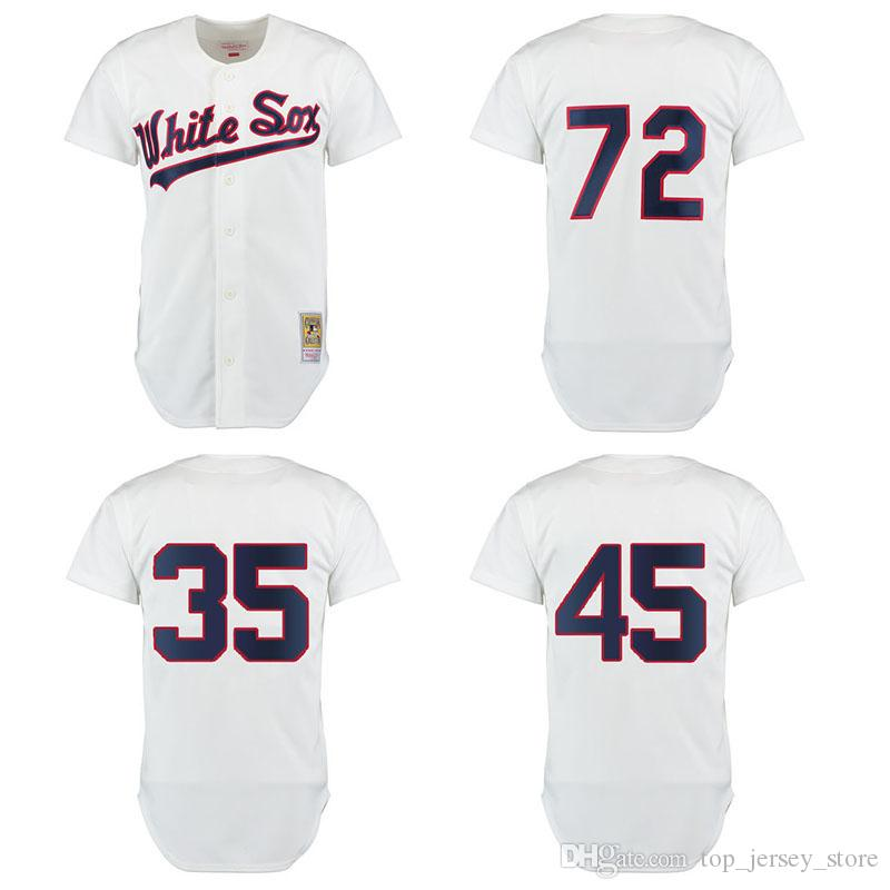 1cdf892d3 2017 Mens Chicago White Sox Jerseys 1990 Michael 35 Frank Thomas 45 Jordan  72 Carlton Fisk ...