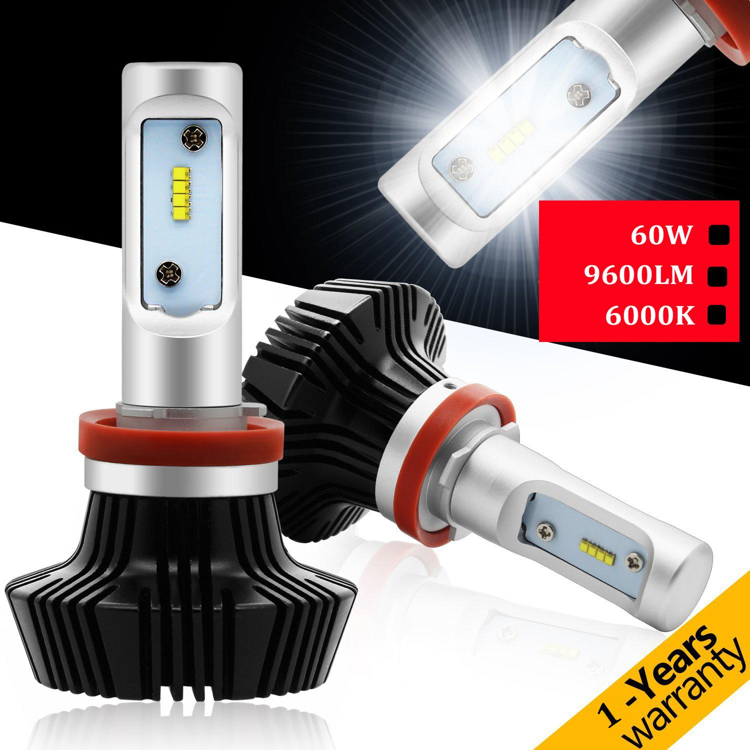 Top quality Car light New 2pcs For Philips LED Chips 60W 12000LM 9005/HB3 Headlight Kit Beam Lamps Light Lamp Bulb
