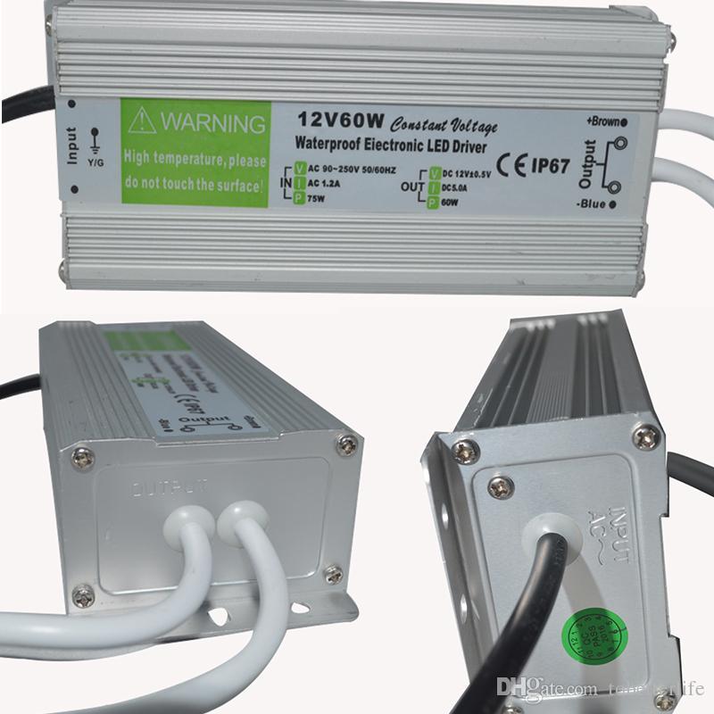 Dc12v Ip67 Lamp Driver Light L'eau 260v Transformateur 60w En Aluminium D'alimentation À 250w Conducteur Ac90v Led Étanche 120w F3TKl5u1Jc