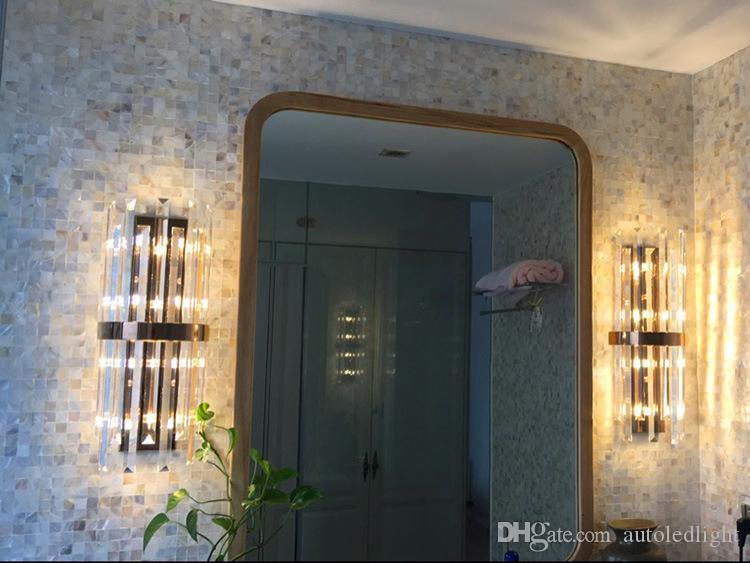 k9 kristall wandleuchte schlafzimmer wandleuchte mit schalter wohnzimmer esszimmer schlafzimmer led wandleuchte Konferenzsaal hotel gold kristall lampen