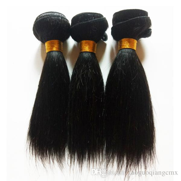 Indian remy Hair weft Short Bob Style 6~12inch 3Bundles Natural Color sexy Unprocessed Peruvian Straight Virgin Human Hair Weave