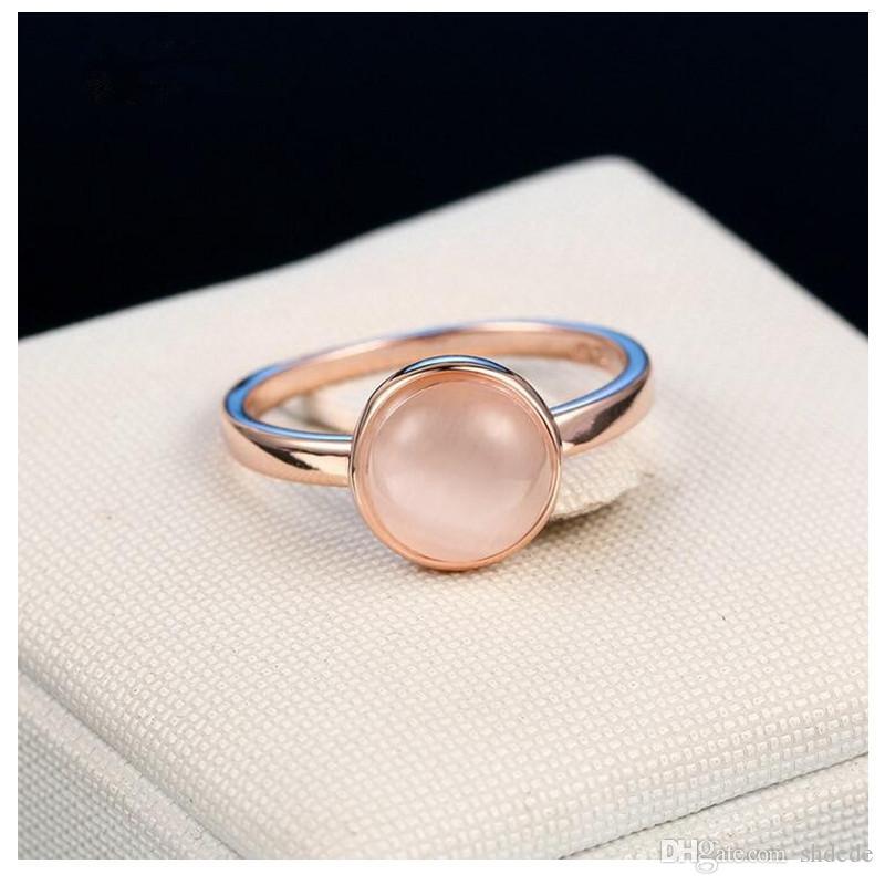 Дизайнер ювелирных глянцевые кольца дамы 18K Роуз Позолоченные Круглый случайные ювелирные изделия R153