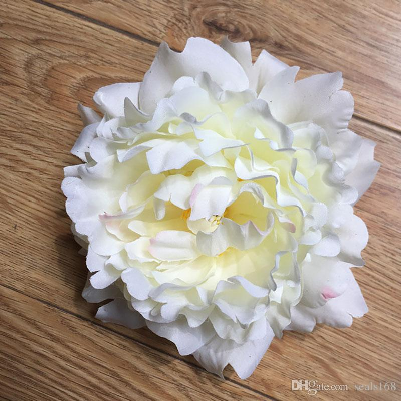 Diy 15 cm flores artificiales de seda peonía cabezas de flores suministros de decoración del banquete de boda simulación cabeza de flor falsa decoración para el hogar WX-C03