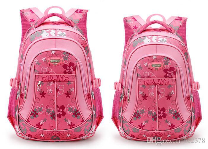 Beautiful Flower Backpack Pink Girl Bag Choice Suitable Kid Height ...