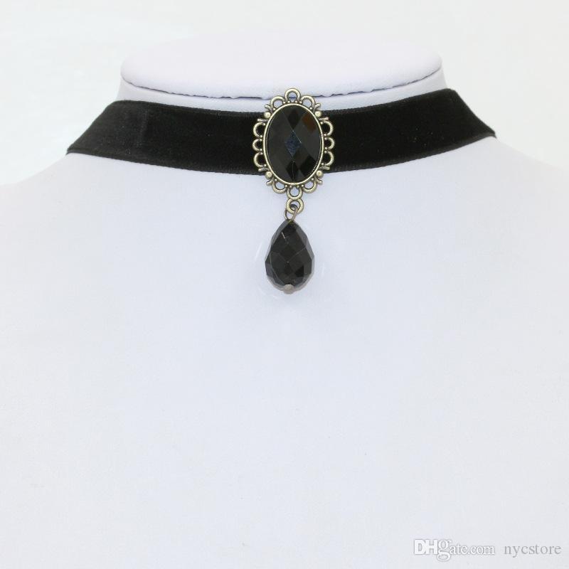 19 estilos mezclan la moda campana perla encaje tatuaje collar gargantilla collar encanto caliente collares de declaración