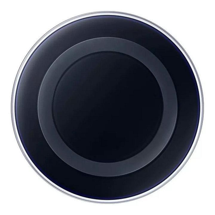 شاحن لاسلكي عالمي Qi لشحن سريع لهواتف سامسونج نوت جالاكسي اس 6 ايدج S8 بدون شعار مع حزمة البيع بالتجزئة QI-A1