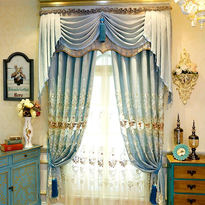 2018 Modern Chenille Curtains Embroidery Curtain Western Style Living Room Bedroom Blackout Blinds 3 Sizes 5 Panels Wholesale From Happyfamilyalike