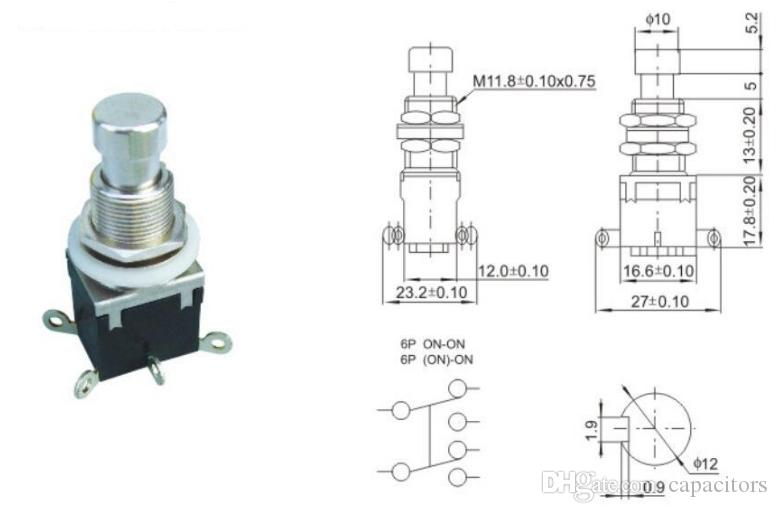 2019 3/6pin dpdt momentary soft touch push button stomp ... push pull wiring diagram for epiphone les paul wiring diagram for dpdt push button #14