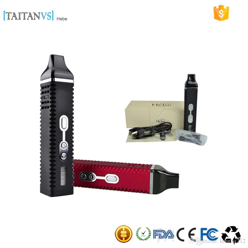 Cheap herbal vaporizers - Best Herb Titan 1 Titan 2 Hebe Kit Dry Herb Vaporizer Ecigarette Herbal Vaporizers Vape Kit Titan 2200mah Temperature Control Systerm Lcd Dispaly E